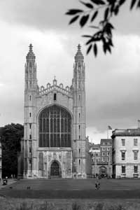 King's College Chapel in Black and white